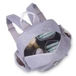 Mochila Maternidade Noah Moleton Cinza - Masterbag Baby