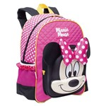 Mochila Minnie Mouse 19y Grande Costas Rosa Lacinho Original