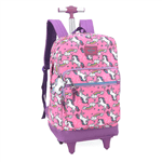 Mochila Up4you Unicórnio com Rodas Rosa