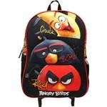 Mochilete Escolar 3D Angry Birds Preta - ABC801801 SANYA