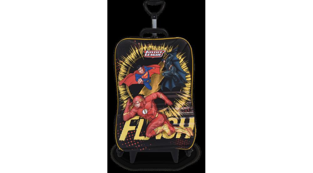 Mochilete Escolar - 3 Rodas - 3D - Liga The Flash - Maxtoy