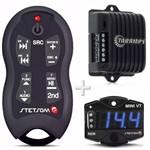 Módulo Taramps Ds160x2 160w + Controle Stetsom Sx2 + Voltímetro Mini Vt