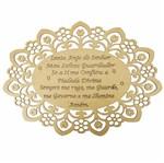 Moldura em MDF Oval Oração Santo Anjo do Senhor 40x29cm Margarida - Palácio da Arte