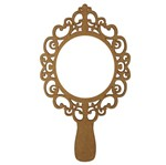 Moldura Espelho de Mão em MDF 15x8,5cm Vazado Provençal - Palácio da Arte