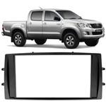 Moldura Painel Dvd 2din Toyota Hilux 2012 2013 2014 - Cinza