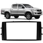 Moldura Painel Dvd 2din Toyota Hilux 2012 2013 2014 - Preto