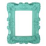 Moldura Provençal Retangular com Cantoneira 23,2x18,2cm Azul Tiffany - Resina