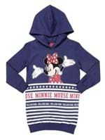 Moletom Fechado Disney Infantil para Menina - Azul Marinho