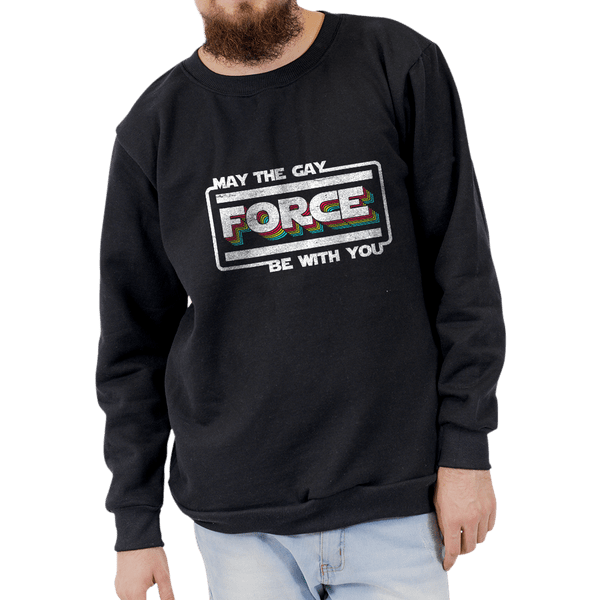 Moletom May The Gay Force Be With You - Unissex - P