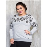 Moletom Plus Size com Bordado Manual P