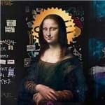 Mona Lisa Street Art - 20 X 20 Cm - Papel Fotográfico Fosco