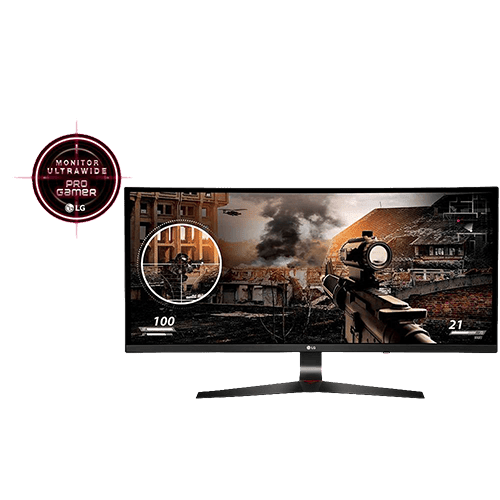 Monitor Gamer LED 34'' IPS Curvo Ultrawide Full HD 34UC79G - LG