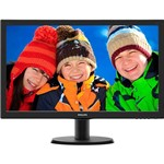 "Monitor LED 23.6"" Widescreen Philips 243V5QHABA Full HD Conexão HDMI"