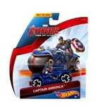 Moto Capitão América Hot Wheels - Cdm36 - Mattel