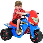 Moto Elétrica Infantil Ban Moto Cross Azul/Vermelho 6V - Bandeirante