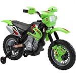Moto Elétrica Motocross Verde 6v Homeplay