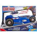 Moto Mega Lançador Marvel Capitão América - Mattel