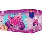 Moto Princesas Disney 6V Bandeirante Rosa e Roxo