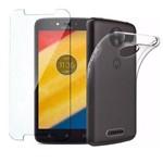 Motorola Moto C 16GB 4G + Película de Vidro + Capa de Silicone Dual Sim Tela 5 - Preto