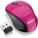 Mouse Fit Wireless - Pink Multilaser-Mo151