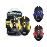 Mouse Gamer Knup Kp-V25 USB 2.0 2400DPI 6 Botões Emborrachado PC Gamer Computador