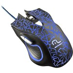 Mouse Gamer Multilaser 6 Botões Led 2400 Dpi