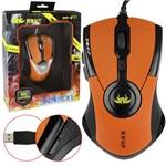 Mouse Gamer Pro 2400 Dpi USB Led Laranja Knup Kp-v21