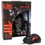 Mouse Gamer Profissional 2400dpi USB Pc Led 8d 8 Botões Knup Kp-v31