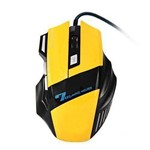 Mouse Optico Gamer 2400DPI 6 Botoes FR-404 Amarelo