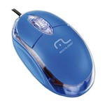 Mouse Óptico Multilaser MO001 USB 800 Dpi Classic Azul