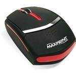 Mouse Ótico USB Preto e Laranja - Maxprint