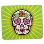 Mouse Pad Caveira Mexicana Dia dos Mortos Verde