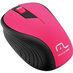 Mouse Sem Fio 2.4GHZ Preto e Rosa USB 1200DPI MO214 Multilaser.
