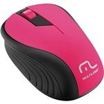 Mouse Sem Fio Preto e Rosa USB - Multilaser