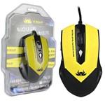 Mouse USB Pro Gamer 2.0 Led 2400 Dpi 6 Botões Amarelo Knup