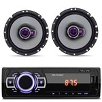 Mp3 Player Multilaser New One USB Sd Auxiliar + Alto Falantes Pioneer 6 Polegadas 100w Rms Par
