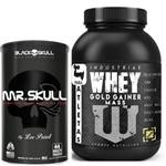 Mr Skull 44 Multipacks Black Skull + Gold Gainer Mass 3kg Baunilha