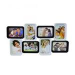 Multi Porta Retrato Preto e Branco para 8 Fotos 10x15cm (de Pendurar)