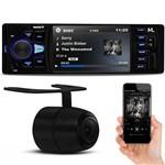 Multimídia Player Quatro Rodas MTC6611 Bluetooth USB Aux Retrátil + Câmera de Ré Colorida Universal
