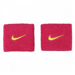 Munhequeira Swoosh Rosa e Verde Curta C/ 02 Unidades - Nike NIM015