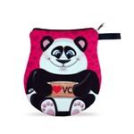 Necessaire Neoprene Pandinha Apaixonado Bolsinha Urso Panda com Zíper