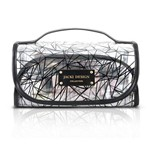 Necessaire Rocambole Transparente Crystal PVC Preto - Jacki Design - Jacki Design - Jacki Design