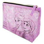 Necessaire Rosa Transparente Frozen - Disney