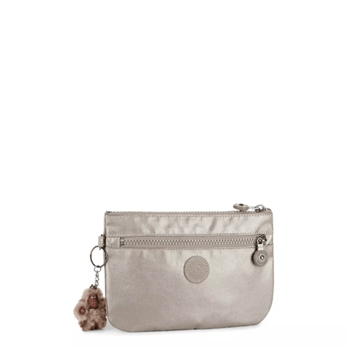 Necessarie Kipling Ness-Metallic Pewter-Único