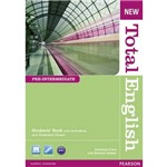 New Total English Pre Int Sb W Act Bk Cd-Rom 1e