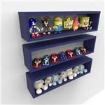 3 Nichos Candy Colors P/ Quarto Organizador Coleções 60cm