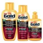 Niely Gold Compridos + Fortes Kit - Shampoo + Condicionador + Creme de Pentear Kit
