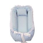 Ninho para Bebê Azul Chevron Babykinha