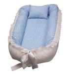 Ninho para Bebê Dupla Face Azul Estrelinha