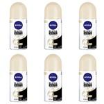 Nivea Black & White Desodorante Rollon Toque de Seda Feminino 50ml (kit C/06)